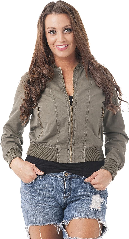 Khanomak Cotton Blend Long Sleeve Bomber Jacket