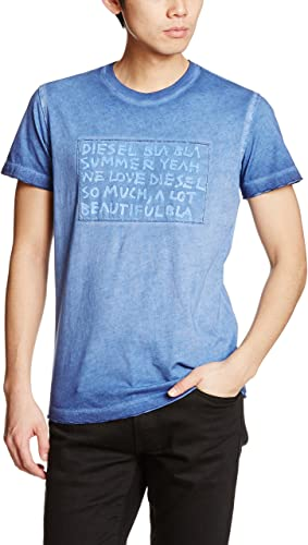 DIESEL T-0KANH-8AT 00SVRL T-shirt BLEU taille L