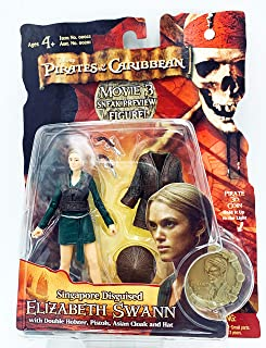 Zizzle Pirates of the Caribbean Dead Man's Chest 3 3/4 Inch Action Figure Series 3 Singapore Disguised Elizabeth Swann