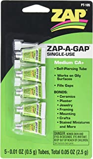 Pacer Technology (Zap) Single Use Mini Tube Adhesives (5 Piece)