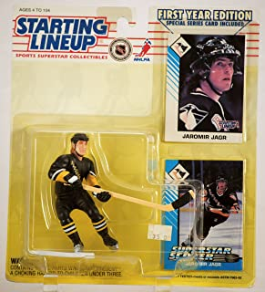 1993 - Kenner / Tonka - NHL - Starting Lineup / Rare First Year Edition - Jaromir Jagr / Pittsburgh Penguins Action Figure - w/ 2 Special Trading Cards - Mint - Limited Edition - Collectible