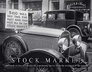 Stock Market Motivational Poster Art Print 11x14 Warren Buffett Chicago New York Stock Exchange Wall Street