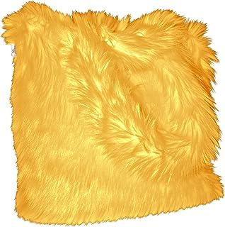 CHC-Beverly Hills Luxurious Signature Fluffy Fur Weekender Bag Bright-orange Large, Yellow (yellow) - FF-LWB-Y21
