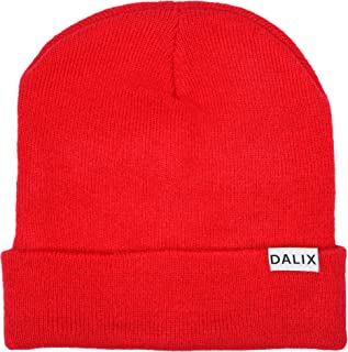 "DALIX Cuff Beanie Cap 12"" Royal Red Black Navy Blue Orange Lime Green White Canary Yellow Pink Camo"