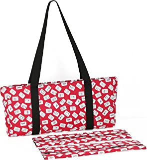 Red Color Tiles Designer Mah Jongg Set Soft Carrying Case (Case Only)