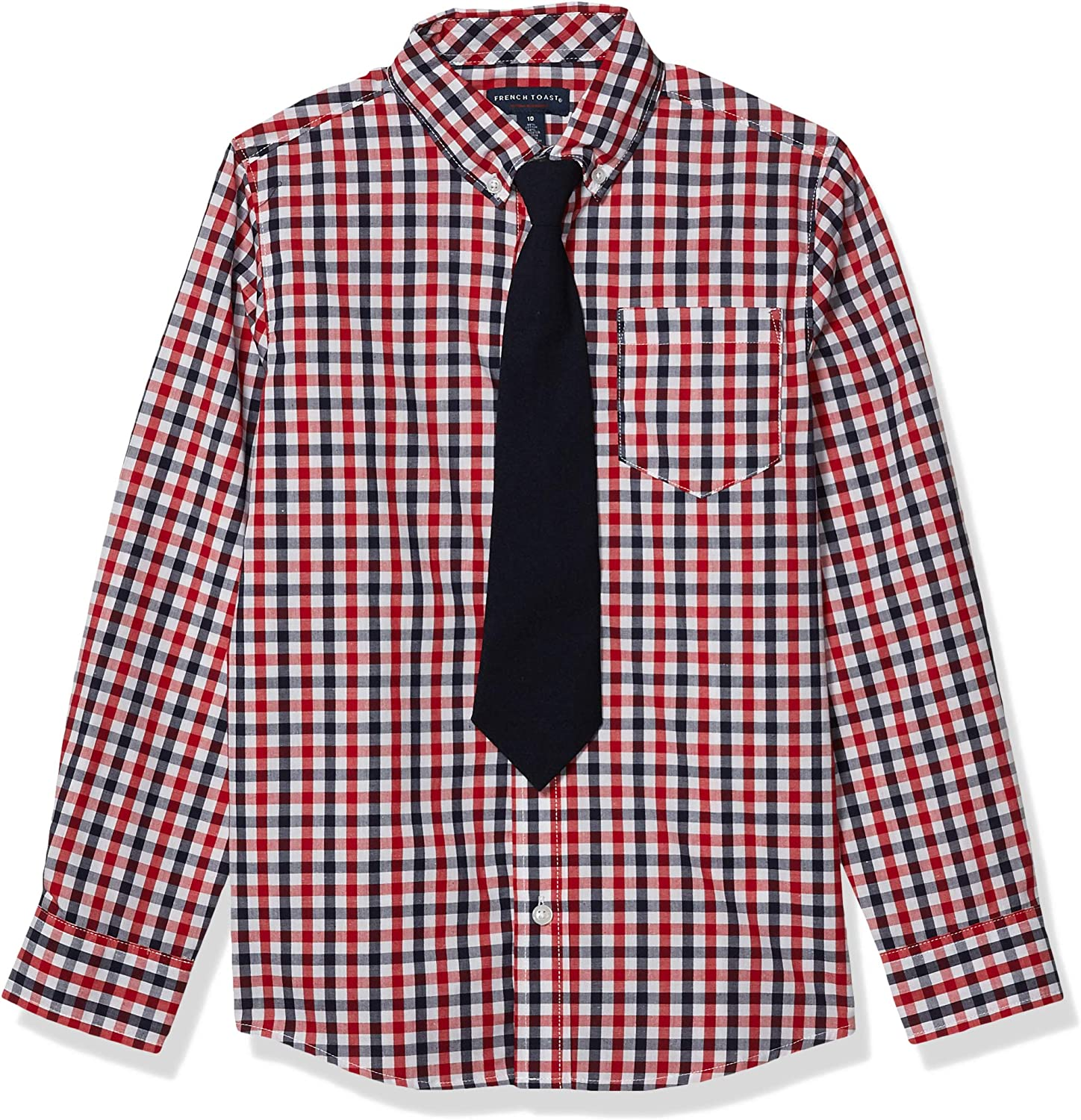 French Toast Max 48% OFF Boys' mart Long Sleeve Shirt with Dress Tie