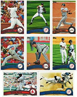 2011 Topps MLB Baseball Series Complete Mint Hand Collated 660 Card Set Including Series 1 and 2 Cards Derek Jeter Mickey Mantle Plus Complete M (Mint)