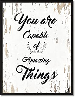 SpotColorArt You are Capable of Amazing Things Motivation Quote. Giclee Print on Canvas & Framed Art for Wall Decor, 7