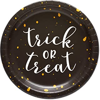 American Greetings Halloween Party Supplies, Trick-or-Treat Paper Dinner Plates (36-Count)