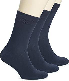 Women's Bamboo Dress Socks Crew Soft Thin Comfy Seamless...
