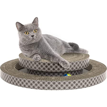 Kitty City XL Wide Premium Scratching Collection, Corrugate Cat Scratchers 2 Pieces, Cat Scratching Toy, Brown
