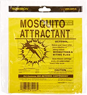 Flowtron MA-1000-6 Octenol Mosquito Attractant Cartridges, 6-Pack