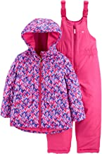 OshKosh B'Gosh Girls' Ski Jacket and Snowbib Snowsuit Outfit Set