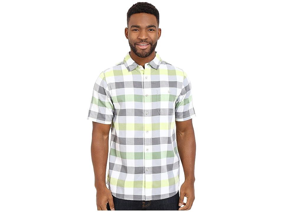 The North Face Short Sleeve Send Train Shirt (Vibrant Green Plaid (Prior Season)) Men