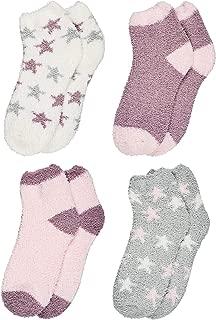 Trimfit Women Indoors, Hospital Socks, Fuzzy Slipper Socks (Pack of 4)