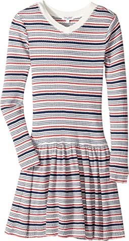 Yarn-Dyed Stripe Sweater Dress (Big Kids)