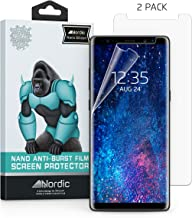 2 Pack Samsung Note 8 & Note 9 Clear Silicon Screen Protector – Case Friendly – Curved Edge. Bubble Free and Compatible with Note8 and Note9