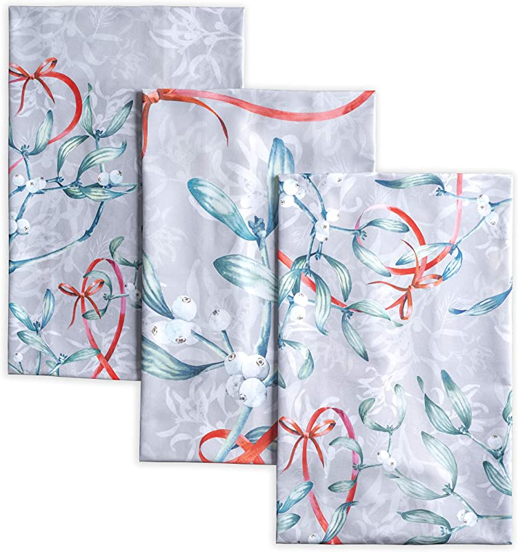 Maison D Hermine Enora 100 Cotton Set Of 3 Kitchen Towels 20 Inch By 27 5 Inch