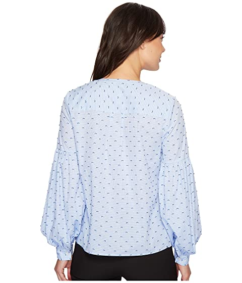 Bubble CeCe Check Blouse Pintuck Sleeve Mini qddwx7zv