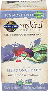 Garden Of Life, Vitamin Mens Once Daily Multi Organic, 36 Tablets