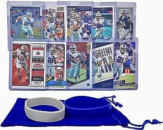 Ezekiel Elliott Football Cards (10) - Dallas Cowboys or Ohio State Buckeyes Trading Card Gift Bundle