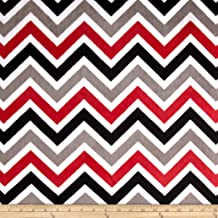 Best red and black chevron fabric Reviews