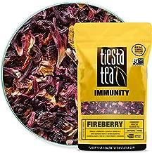 Tiesta Tea | Fireberry, Loose Leaf Cranberry Hibiscus Rooibos Tea | All Natural, Caffeine Free, Hibiscus Tea, Immune Boosting, Flavorful Fruit Tea | 16oz Bulk Bag - 200 Cups | Hibiscus Rooibos Tea