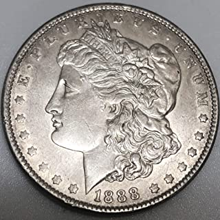 1888 P Silver Morgan Wild West Era Dollar AU