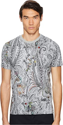 All Over Paisley Print T-Shirt