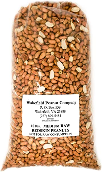 Virginia Peanuts Premium Grade Raw Red Skin Animal Peanuts For Squirrels Birds Deer Pigs And A Wide Variety Of Wildlife Bulk Nuts Blue Jays Cardinals Woodpeckers Parrots Doves 10 Lbs