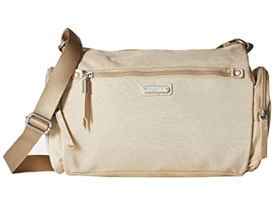 Baggallini Road Trip Hobo with RFID Phone Wristlet (Champagne Shimmer) Handbags