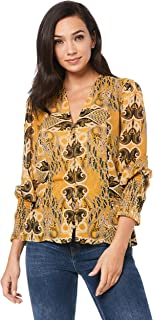 Ministry of Style Women's Gold Light Top