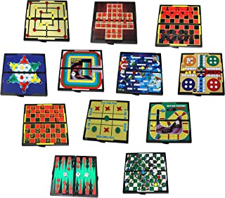 Mini Magnetic Board Games - Set Of 12 Individually Packaged Travel Games - Checkers Chess Solitaire Tic Tac Toe And Much More