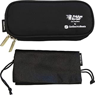 GetBacktoBasix Insulin Cooler Diabetic Medicine Travel Bag Mini - Insulated Epipen Carrying Case Keeps Medications Cool - FDA Approved | Mini