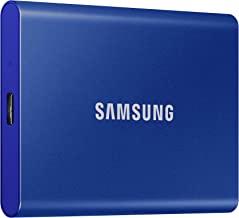 هارد اس اس دس اکسترنال سامسونگ با ظرفیت 500 گیگابایتی با سرعت انتقال حداکثر 1050 مگابایت بر ثانیه با سوکت اتصالی USB 3.2 / رنگ آبی
