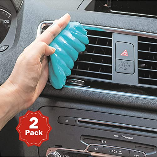 popular EcoNour Car Cleaning Gel online sale Detailing Tools (2 Pack)   Universal Car Cleaning Putty Reusable Kit   Dust Removal Slime for Auto Car Interior Air Vent wholesale Laptop Keyboard Cameras Home Car Slime Cleaner (Blue) outlet online sale