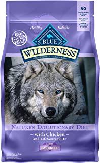 Blue Buffalo Wilderness High Protein Grain Free, Natural Adult Toy Breed Dry Dog Food, Chicken 4-lb