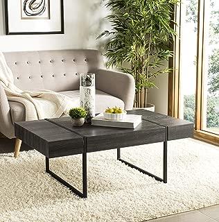 Safavieh Home Collection Tristan Black Rectangular Modern Coffee Table