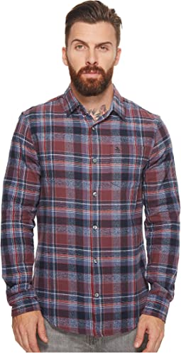 Original Penguin - Long Sleeve Twisted Yarn Flannel