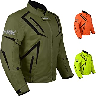 Motorcycle Jacket Riding HWK Mens Textile Motocross...