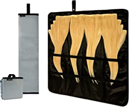 Storagami Hair Extension Storage Case with Hang Handle - Portable Holder Keeps Your Clip-In and Tape-In Extensions Smooth and Secured for Easier Styling and Reapplying - Great for Travel!