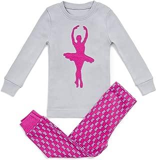 Girls Pajamas Ballerina 2 Piece 100% Super Soft Cotton (12m-8y)