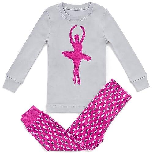 298ece8380d1 Bluenido Girls Pajamas Ballerina 2 Piece 100% Super Soft Cotton (12m-8y)