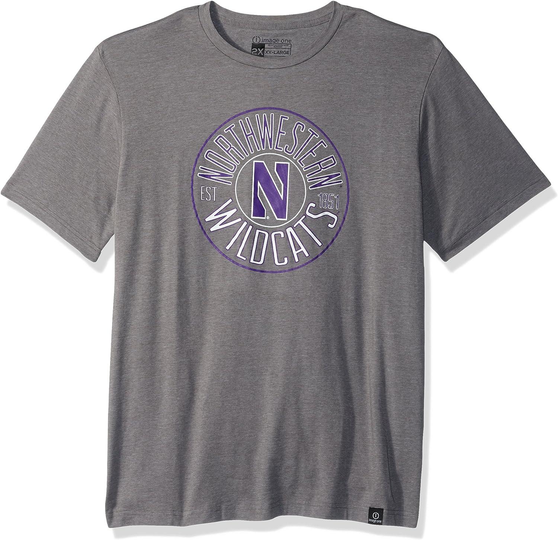 Image 登場大人気アイテム One 買い物 Adult Unisex's NCAA T-Sh Short Everyday Circles Sleeve