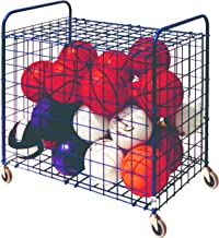 Champion Sports Portable Ball and Sports Equpment Storage Cart Locker with Lockable Hinge Cover - Available in Full and Half Size