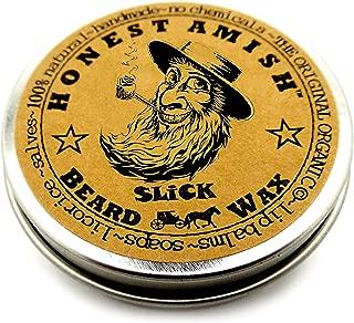 Honest Amish Slick Beard Wax - All Natural and Organic - 2 ounce