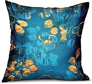Plutus - Almohada de doble cara, 50,8 x 50,8 cm, diseño floral, color azul