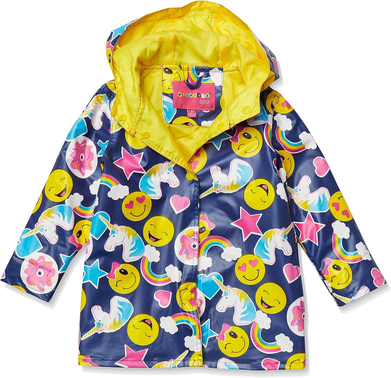 Wippette Girls' Matte Emoji Rain Jacket
