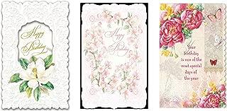 For Arts Sake - Carol Wilson Fine Arts -36 Birthday Card Assortment - 6 Designs - crgpg16-7to12