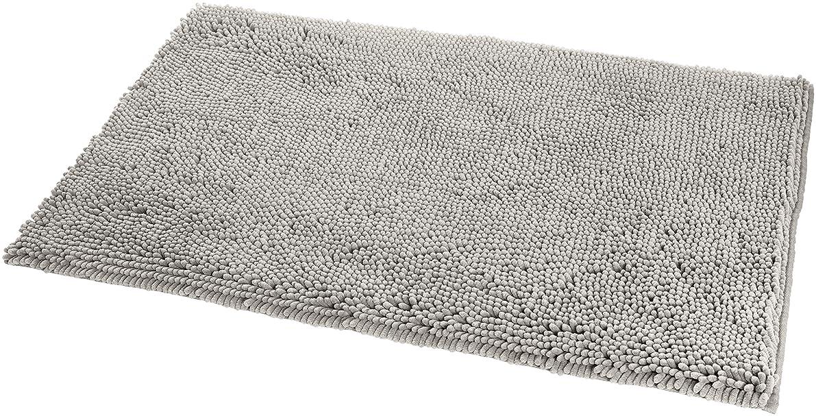 AmazonBasics Non-Slip Microfiber Shag Bath Rug, 21